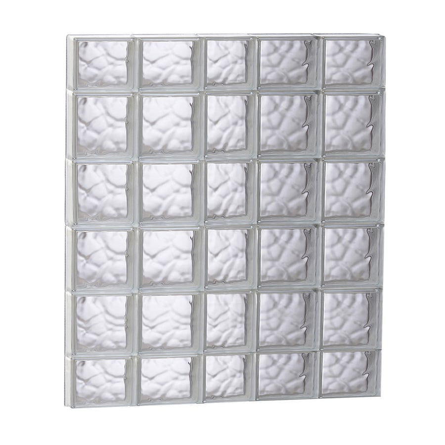 REDI2SET Wavy Glass Pattern Frameless Replacement Glass Block Window (Rough Opening: 37.25-in x 43-in; Actual: 36.75-in x 42.5-in)