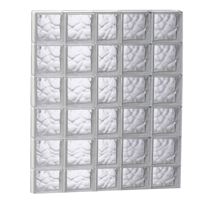 redi2set wavy glass pattern frameless replacement glass clear block window rough opening 3725 - Glass Blocks Lowes