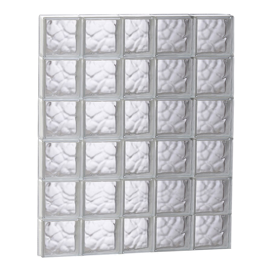 REDI2SET Wavy Glass Pattern Frameless Replacement Glass Block Window (Rough Opening: 37.25-in x 47-in; Actual: 36.75-in x 46.5-in)