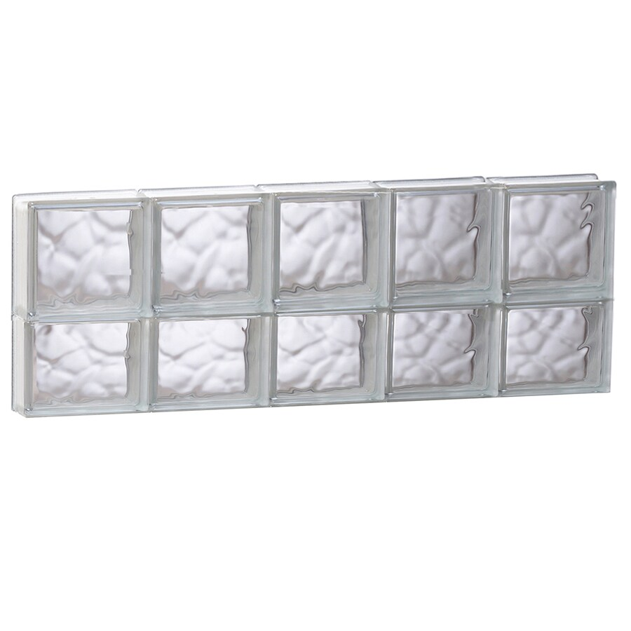 REDI2SET Wavy Glass Pattern Frameless Replacement Glass Block Window (Rough Opening: 39.25-in x 14-in; Actual: 38.75-in x 13.5-in)