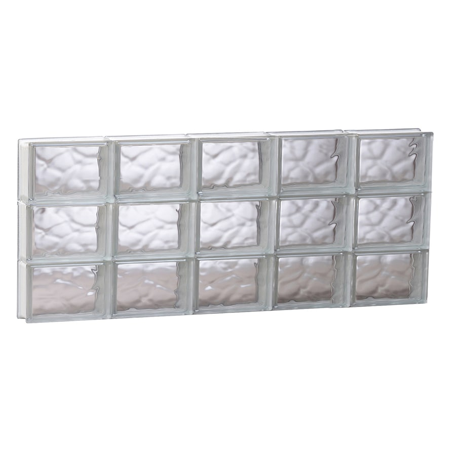 REDI2SET Wavy Glass Pattern Frameless Replacement Glass Block Window (Rough Opening: 39.25-in x 17.75-in; Actual: 38.75-in x 17.25-in)