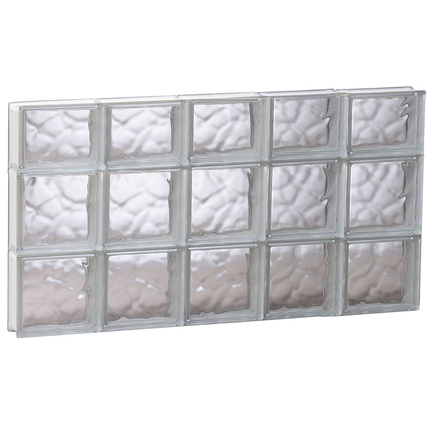 REDI2SET Wavy Glass Pattern Frameless Replacement Glass Block Window (Rough Opening: 39.25-in x 21.75-in; Actual: 38.75-in x 21.25-in)