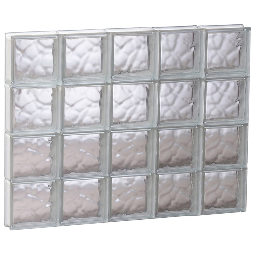 REDI2SET Wavy Glass Pattern Frameless Replacement Glass Block Window (Rough Opening: 39.25-in x 31.5-in; Actual: 38.75-in x 31-in)