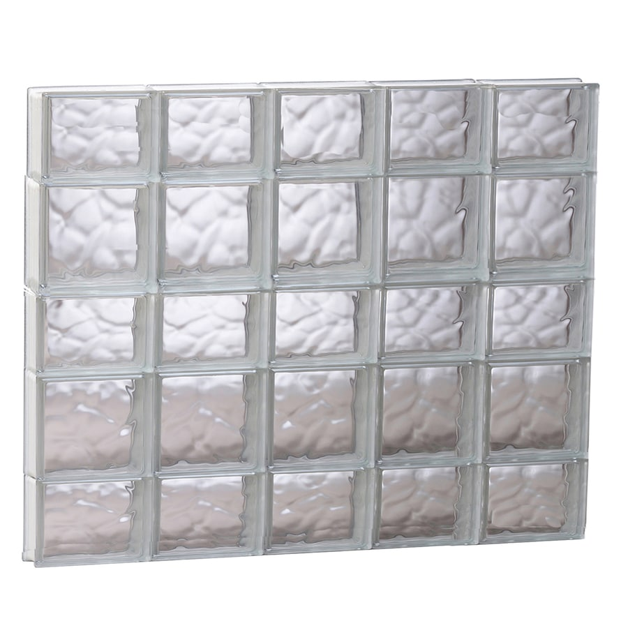 REDI2SET Wavy Glass Pattern Frameless Replacement Glass Block Window (Rough Opening: 39.25-in x 33.25-in; Actual: 38.75-in x 32.75-in)