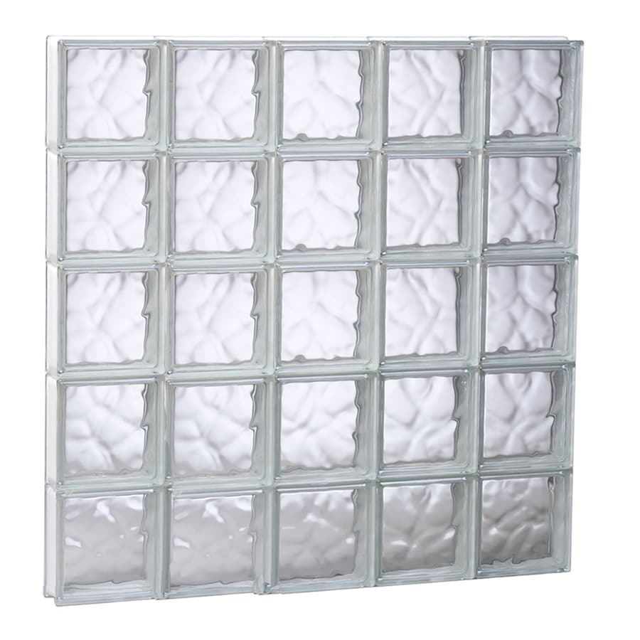REDI2SET Wavy Glass Pattern Frameless Replacement Glass Block Window (Rough Opening: 39.25-in x 39.25-in; Actual: 38.75-in x 38.75-in)