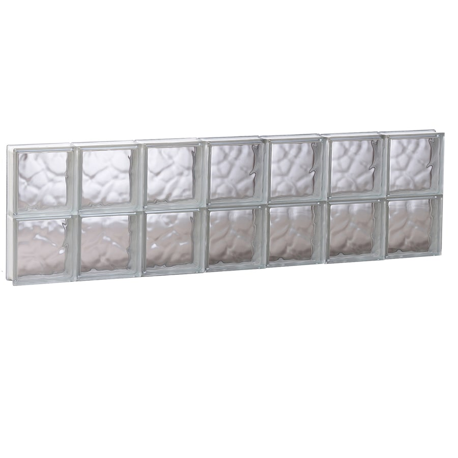 REDI2SET Wavy Glass Pattern Frameless Replacement Glass Block Window (Rough Opening: 40.62-in x 12-in; Actual: 40.12-in x 11.5-in)