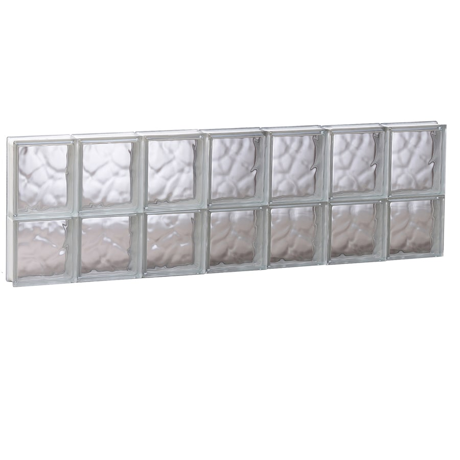 REDI2SET Wavy Glass Pattern Frameless Replacement Glass Block Window (Rough Opening: 40.62-in x 14-in; Actual: 40.12-in x 13.5-in)
