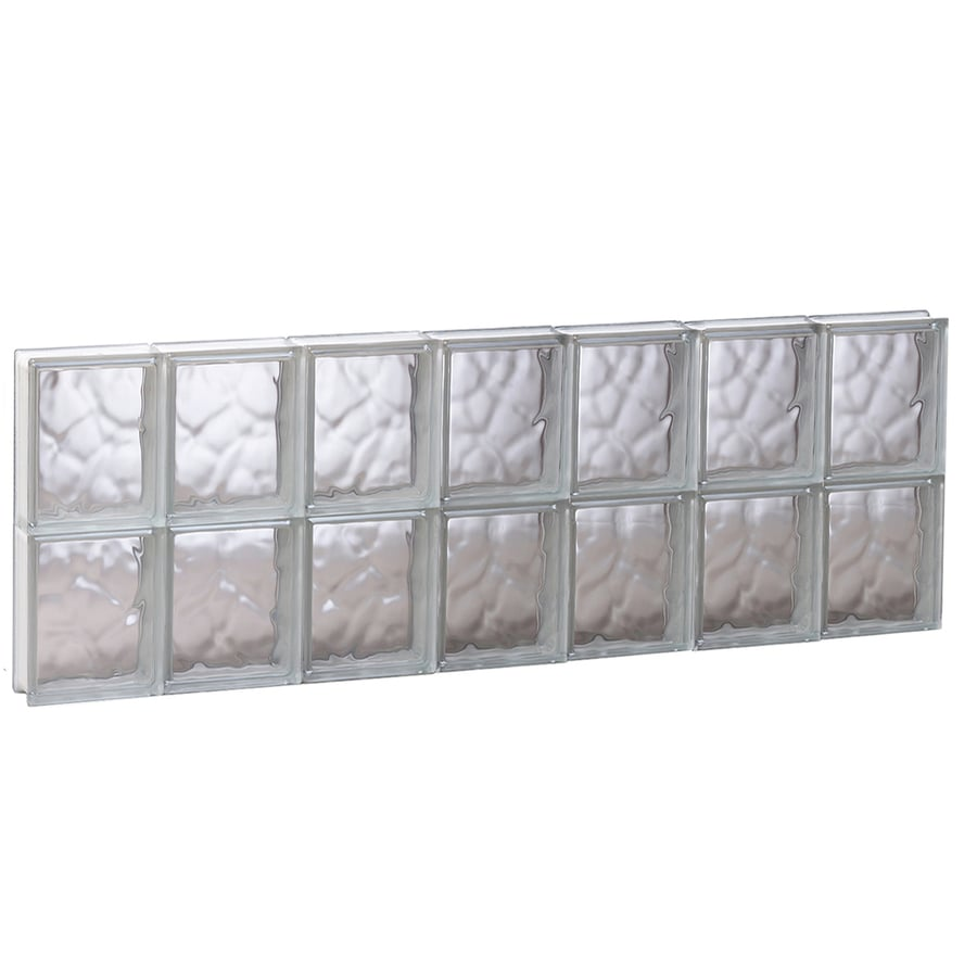 REDI2SET Wavy Glass Pattern Frameless Replacement Glass Block Window (Rough Opening: 40.62-in x 16-in; Actual: 40.12-in x 15.5-in)