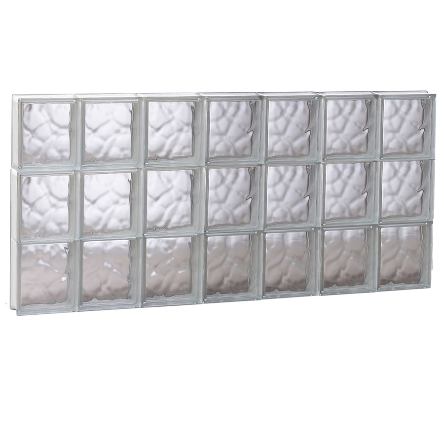 REDI2SET Wavy Glass Pattern Frameless Replacement Glass Block Window (Rough Opening: 40.62-in x 23.75-in; Actual: 40.12-in x 23.25-in)