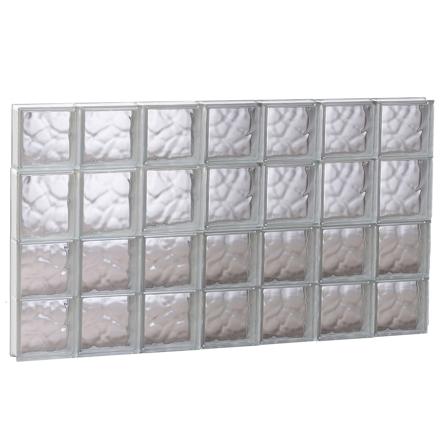 REDI2SET Wavy Pattern Frameless Replacement Glass Block Window (Rough Opening: 40.62-in x 25.5-in; Actual: 40.12-in x 25-in)