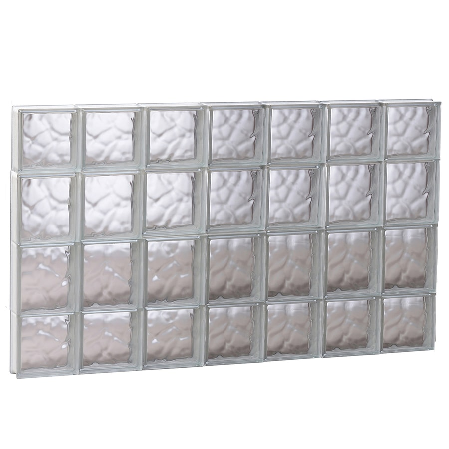 REDI2SET Wavy Glass Pattern Frameless Replacement Glass Block Window (Rough Opening: 40.62-in x 27.5-in; Actual: 40.12-in x 27-in)
