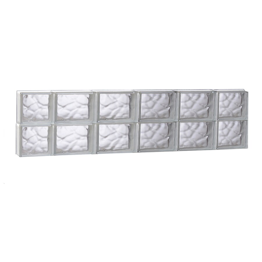 REDI2SET Wavy Glass Pattern Frameless Replacement Glass Block Window (Rough Opening: 43-in x 12-in; Actual: 42.5-in x 11.5-in)