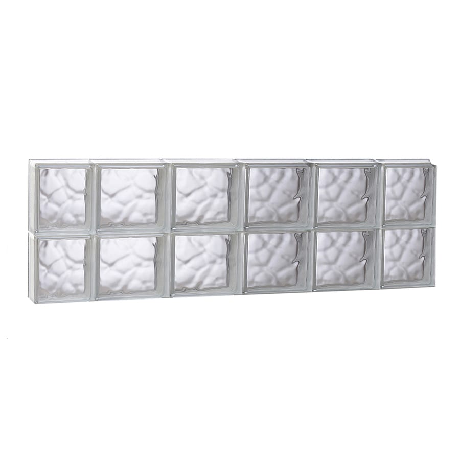 REDI2SET Wavy Glass Pattern Frameless Replacement Glass Block Window (Rough Opening: 43-in x 16-in; Actual: 42.5-in x 15.5-in)