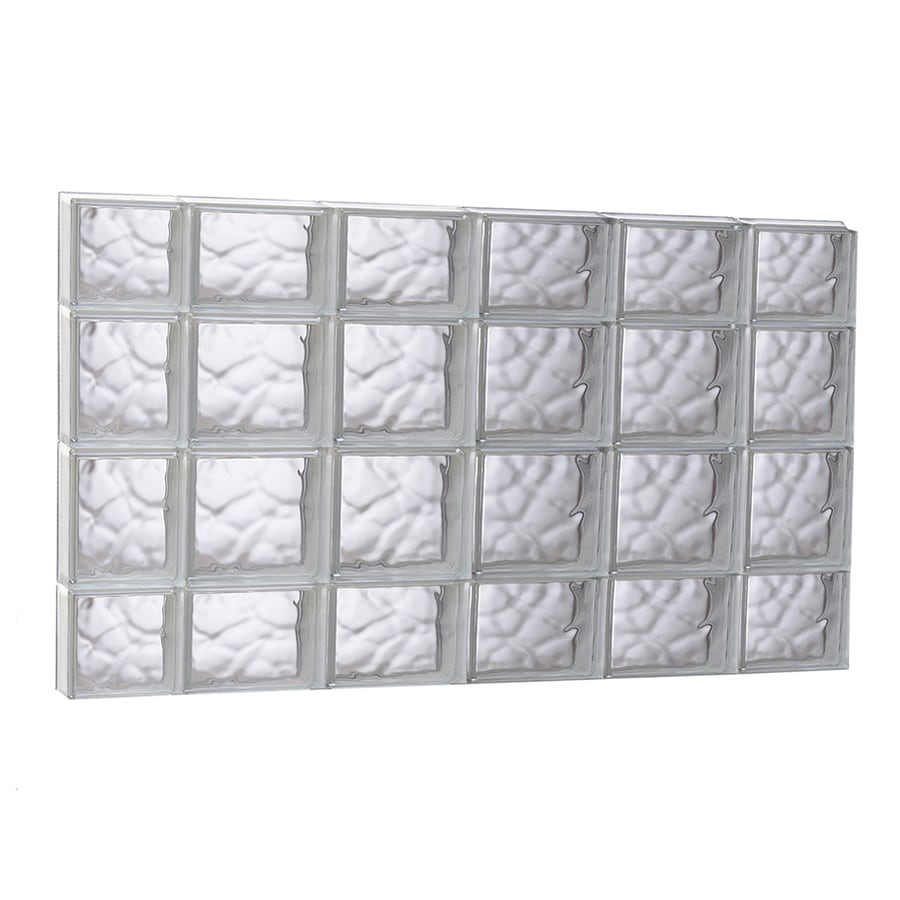 REDI2SET Wavy Glass Pattern Frameless Replacement Glass Block Window (Rough Opening: 43-in x 27.5-in; Actual: 42.5-in x 27-in)