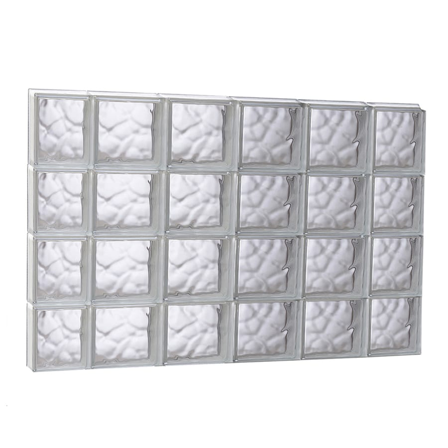 REDI2SET Wavy Glass Pattern Frameless Replacement Glass Block Window (Rough Opening: 43-in x 31.5-in; Actual: 42.5-in x 31-in)