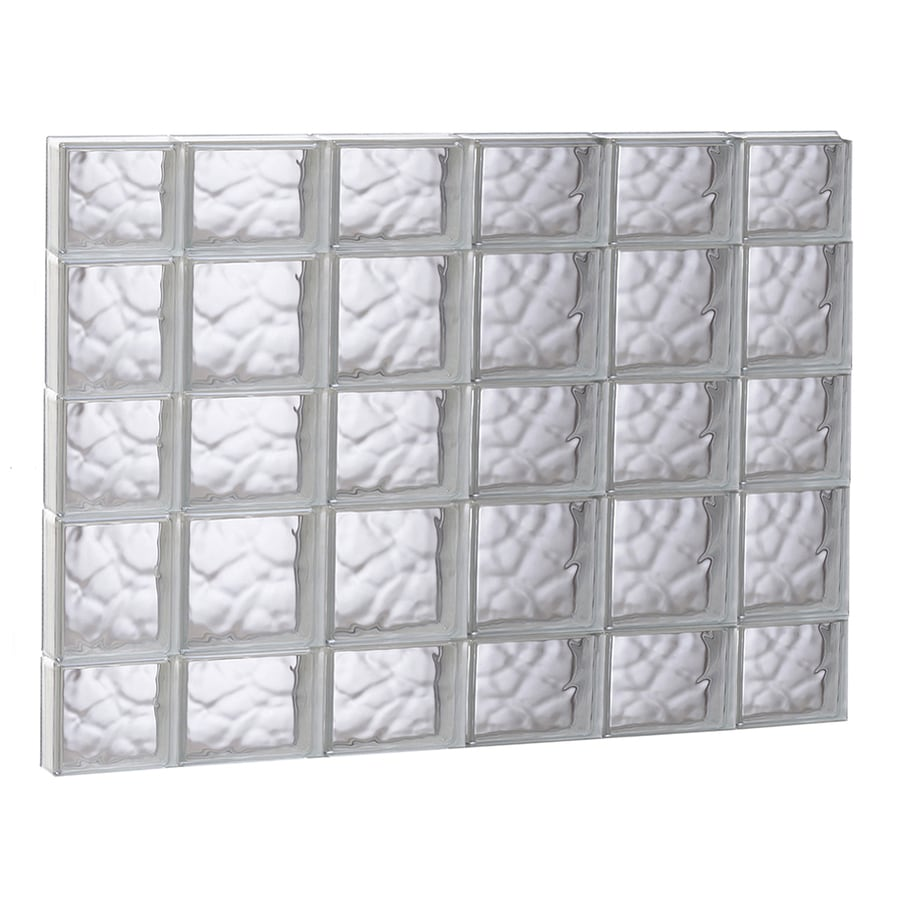 REDI2SET Wavy Glass Pattern Frameless Replacement Glass Block Window (Rough Opening: 43-in x 33.25-in; Actual: 42.5-in x 32.75-in)