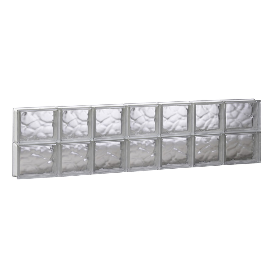 REDI2SET Wavy Glass Pattern Frameless Replacement Glass Block Window (Rough Opening: 44.75-in x 12-in; Actual: 44.25-in x 11.5-in)
