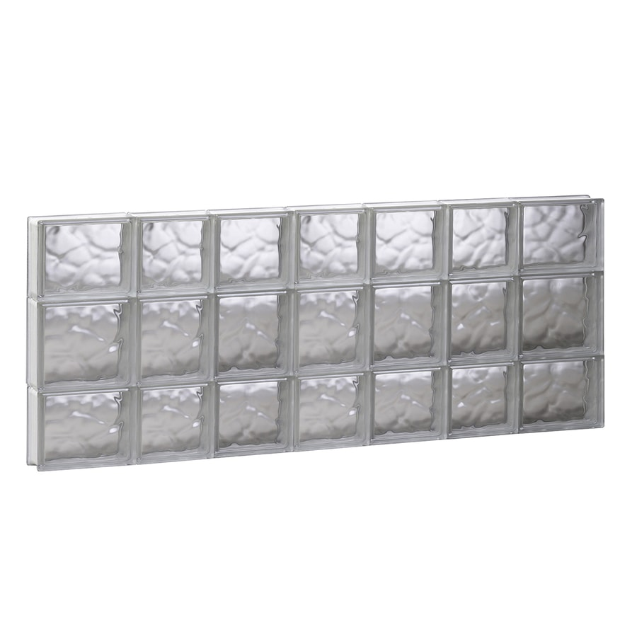 REDI2SET Wavy Pattern Frameless Replacement Glass Block Window (Rough Opening: 44.75-in x 19.75-in; Actual: 44.25-in x 19.25-in)