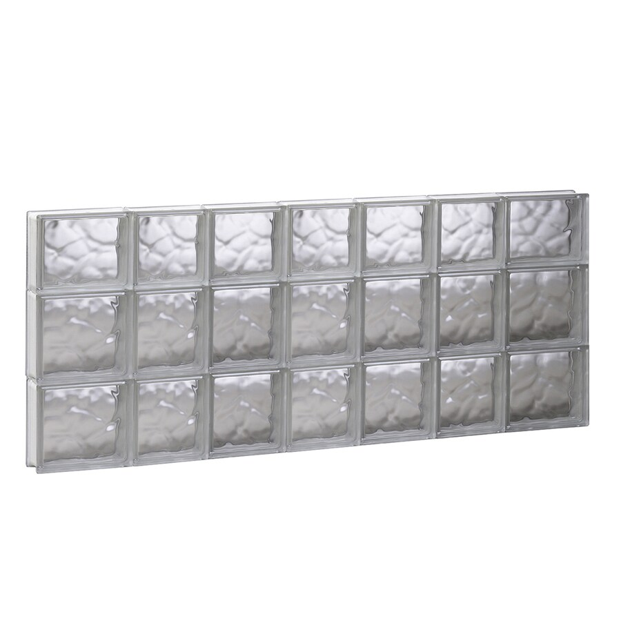 REDI2SET Wavy Glass Pattern Frameless Replacement Glass Block Window (Rough Opening: 44.75-in x 21.75-in; Actual: 44.25-in x 21.25-in)