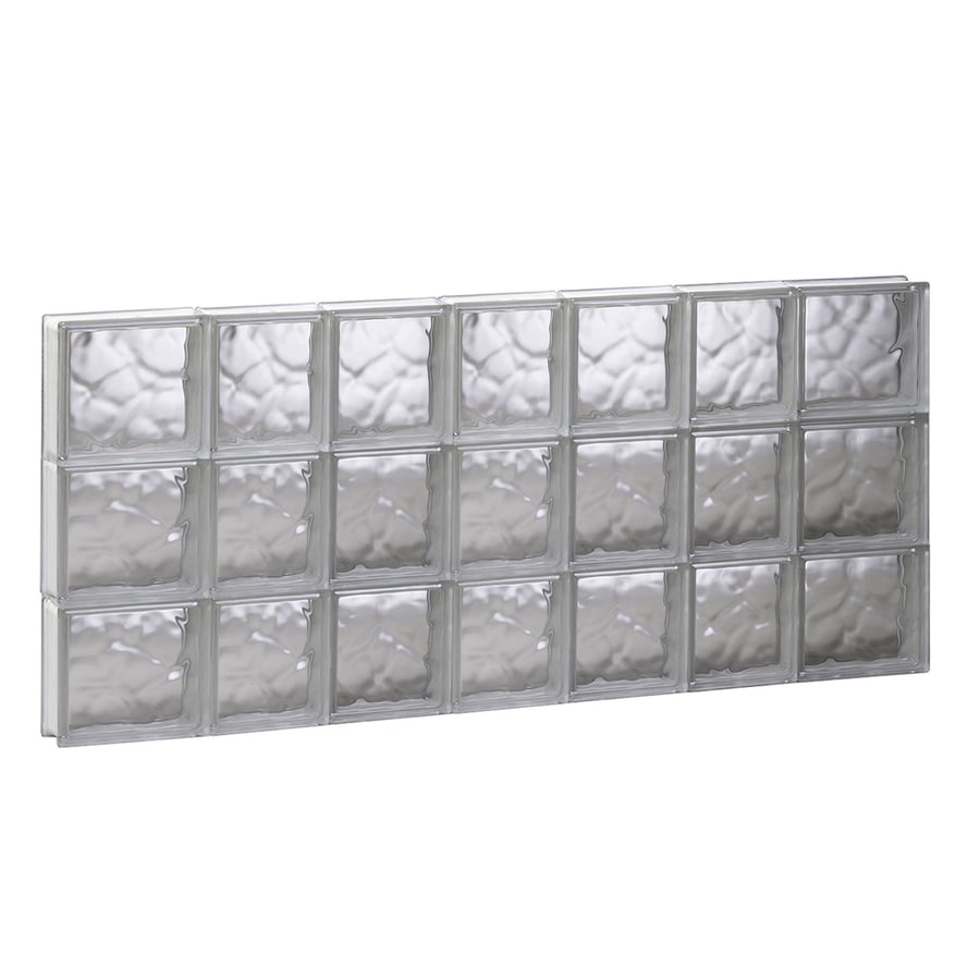REDI2SET Wavy Glass Pattern Frameless Replacement Glass Block Window (Rough Opening: 44.75-in x 23.75-in; Actual: 44.25-in x 23.25-in)