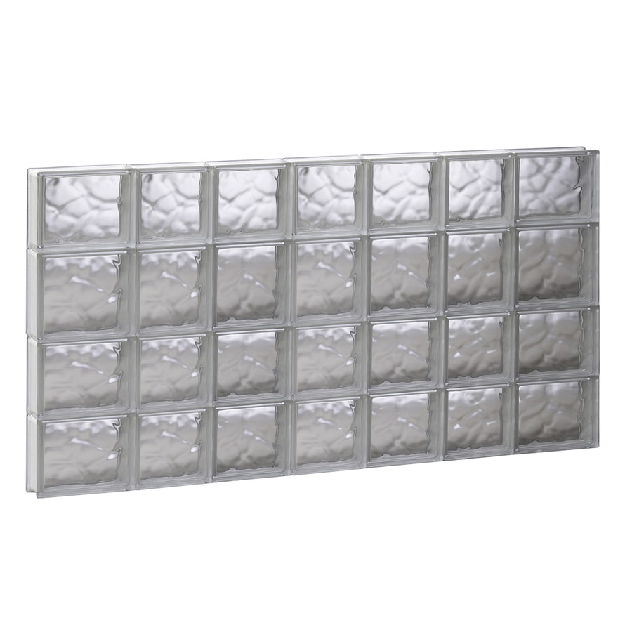 REDI2SET Wavy Glass Pattern Frameless Replacement Glass Block Window (Rough Opening: 44.7500-in x 25.5000-in; Actual: 44.2500-in x 25-in)