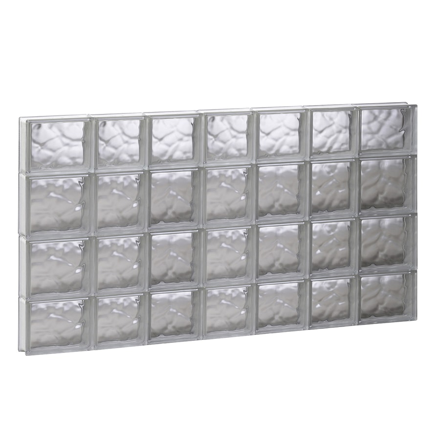 REDI2SET Wavy Glass Pattern Frameless Replacement Glass Block Window (Rough Opening: 44.75-in x 27.5-in; Actual: 44.25-in x 27-in)