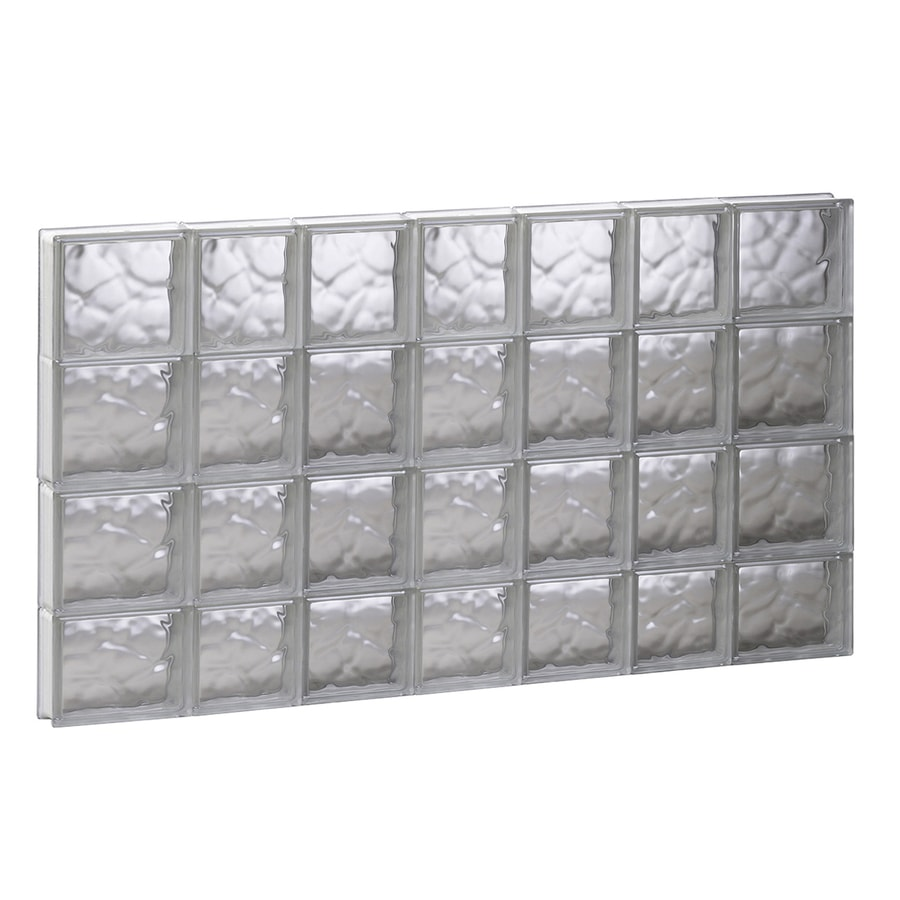 REDI2SET Wavy Glass Pattern Frameless Replacement Glass Block Window (Rough Opening: 44.75-in x 29.5-in; Actual: 44.25-in x 29-in)
