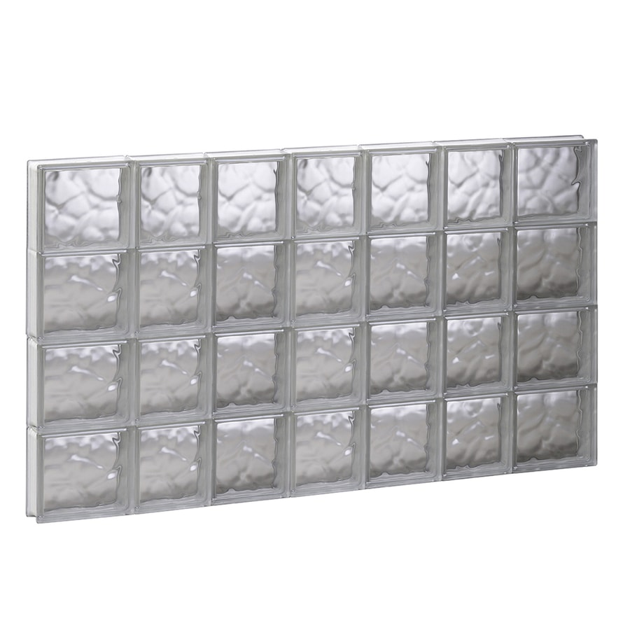 REDI2SET Wavy Glass Pattern Frameless Replacement Glass Block Window (Rough Opening: 44.75-in x 31.5-in; Actual: 44.25-in x 31-in)