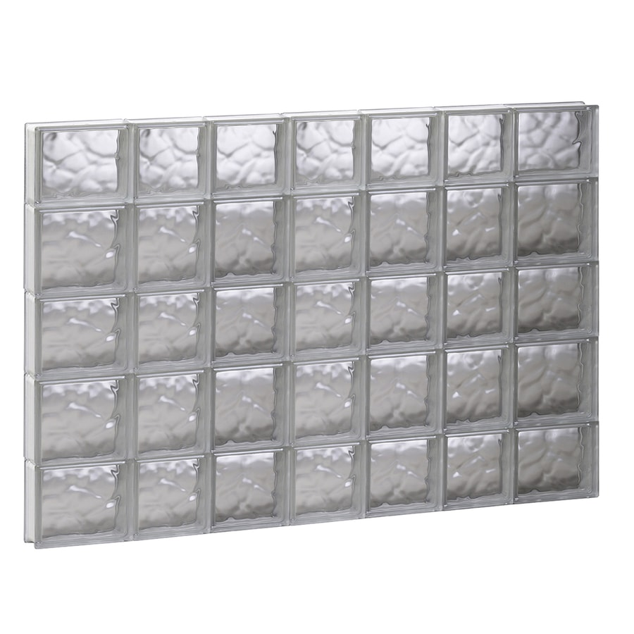 REDI2SET Wavy Glass Pattern Frameless Replacement Glass Block Window (Rough Opening: 44.75-in x 33.25-in; Actual: 44.25-in x 32.75-in)