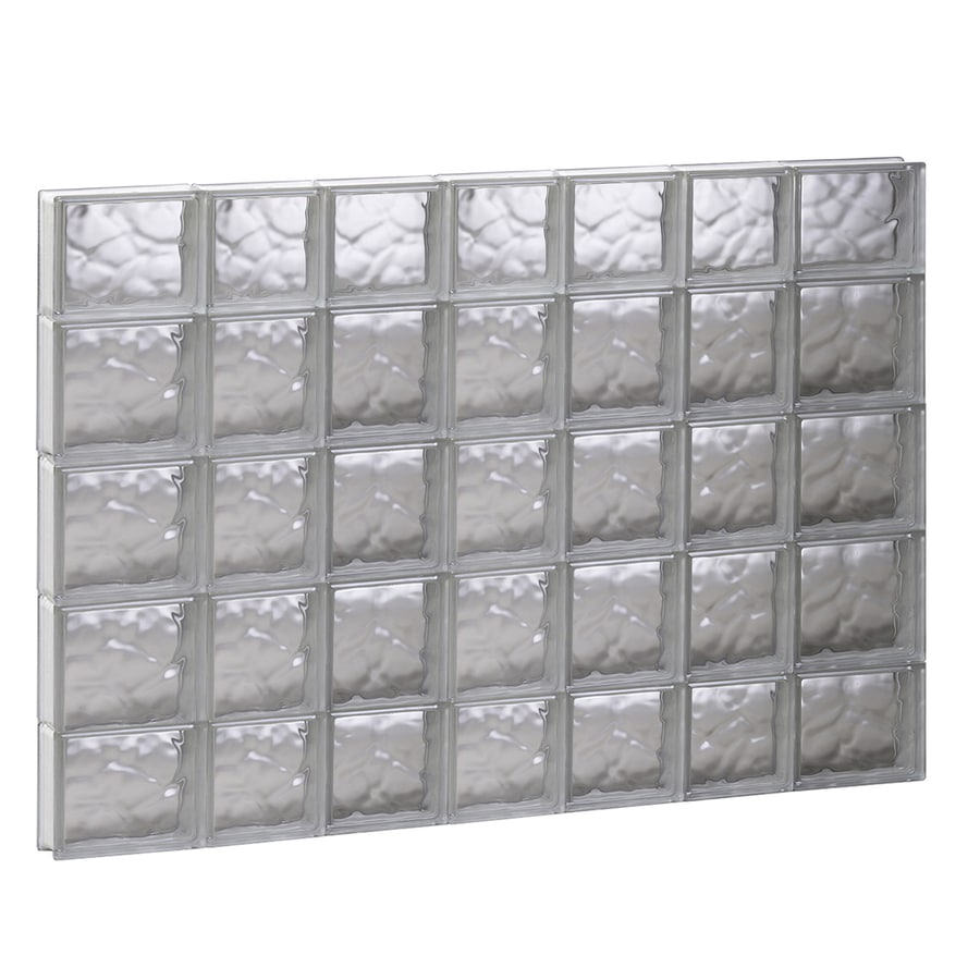 REDI2SET Wavy Glass Pattern Frameless Replacement Glass Block Window (Rough Opening: 44.75-in x 35.25-in; Actual: 44.25-in x 34.75-in)