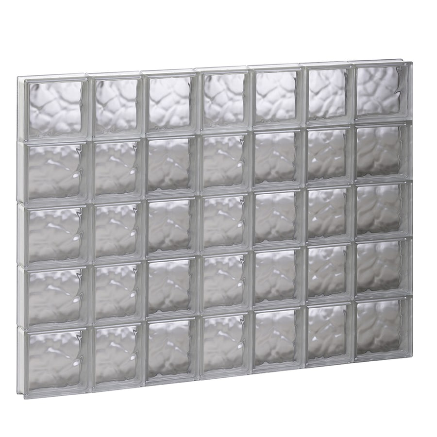 REDI2SET Wavy Pattern Frameless Replacement Glass Block Window (Rough Opening: 44.75-in x 39.25-in; Actual: 44.25-in x 38.75-in)