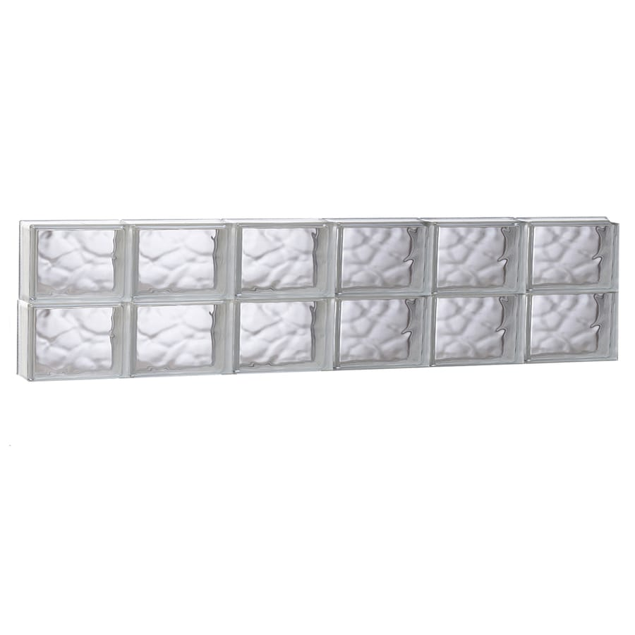 REDI2SET Wavy Glass Pattern Frameless Replacement Glass Block Window (Rough Opening: 47-in x 12-in; Actual: 46.5-in x 11.5-in)