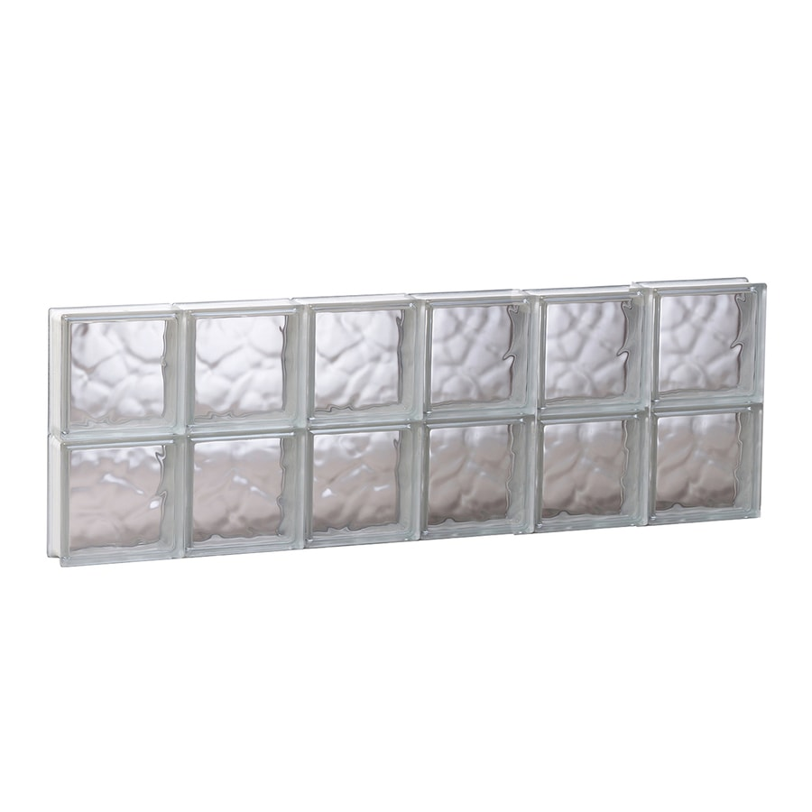 REDI2SET Wavy Glass Pattern Frameless Replacement Glass Block Window (Rough Opening: 48-in x 16-in; Actual: 46.5-in x 15.5-in)