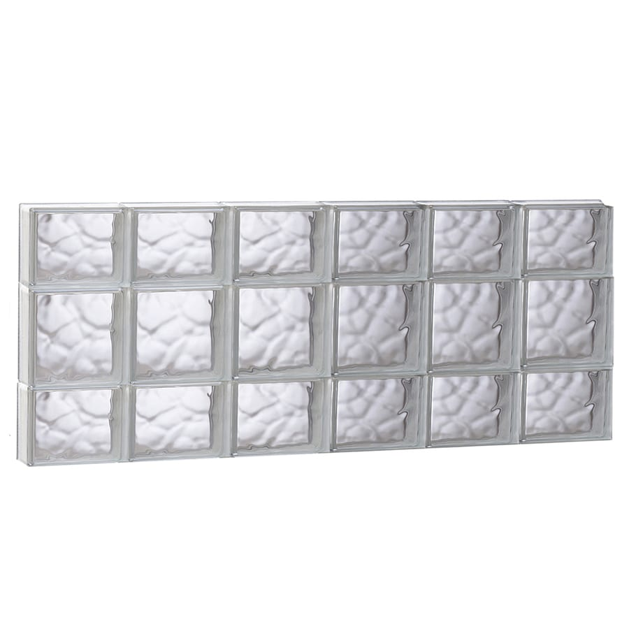 REDI2SET Wavy Glass Pattern Frameless Replacement Glass Block Window (Rough Opening: 48-in x 20-in; Actual: 46.5-in x 19.25-in)