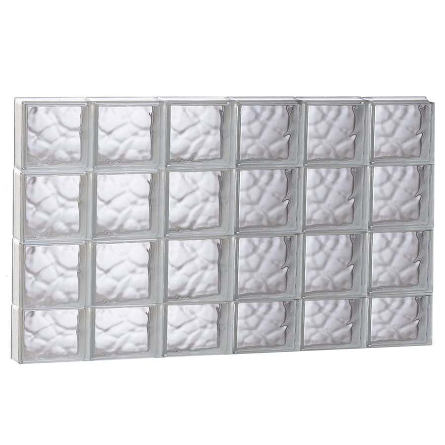 REDI2SET Wavy Glass Pattern Frameless Replacement Glass Block Window (Rough Opening: 48-in x 30-in; Actual: 46.5-in x 29-in)