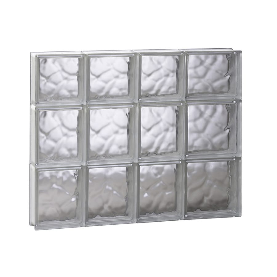 REDI2SET Wavy Pattern Frameless Replacement Glass Block Window (Rough Opening: 26-in x 22-in; Actual: 25-in x 21.25-in)