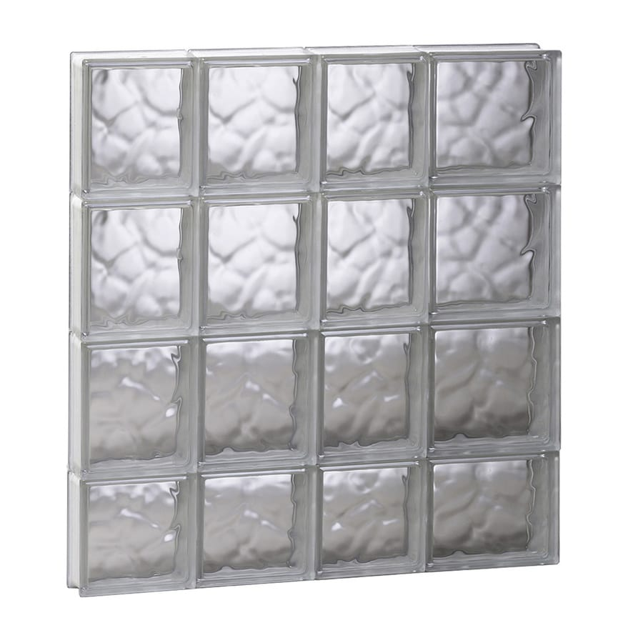 REDI2SET Wavy Glass Pattern Frameless Replacement Glass Block Window (Rough Opening: 26-in x 30-in; Actual: 25-in x 29-in)