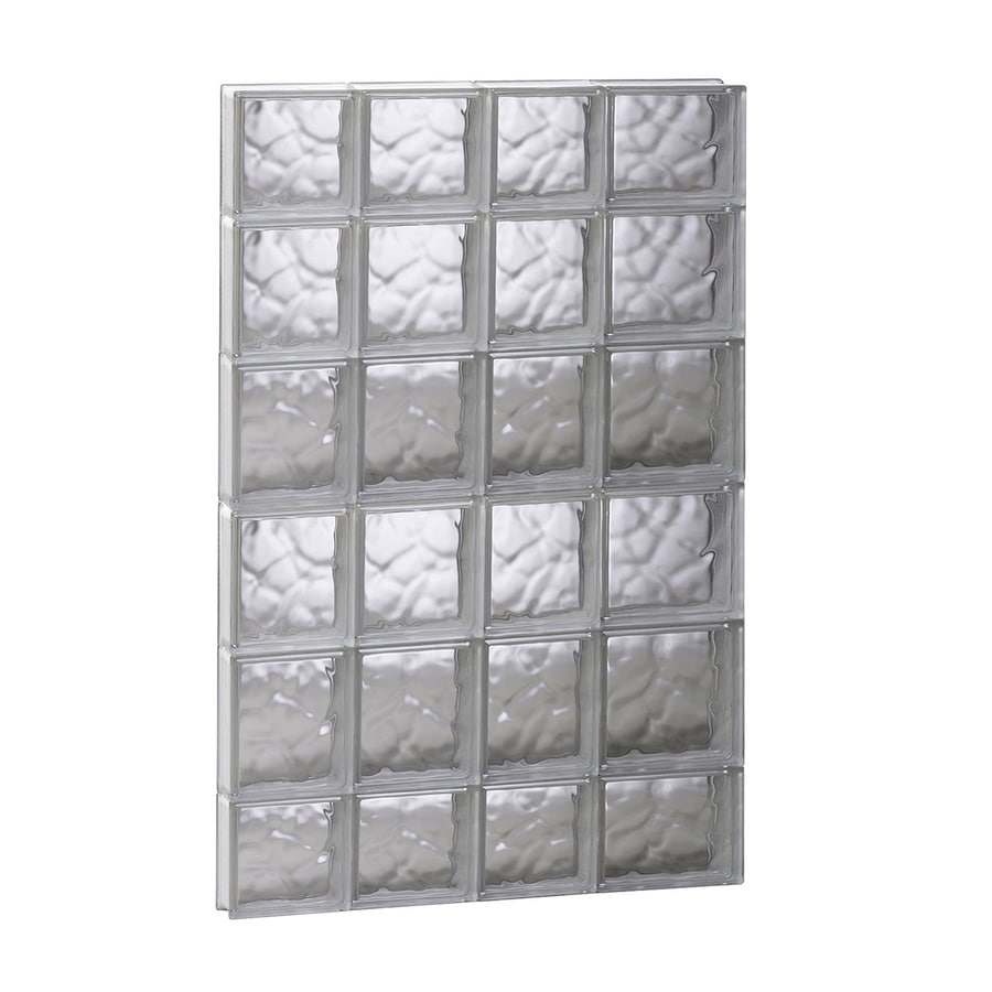 REDI2SET Wavy Glass Pattern Frameless Replacement Glass Block Window (Rough Opening: 26-in x 44-in; Actual: 25-in x 42.5-in)