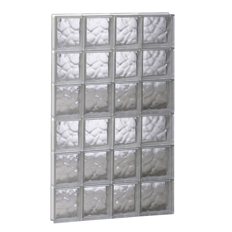 REDI2SET Wavy Glass Pattern Frameless Replacement Glass Block Window (Rough Opening: 26-in x 48-in; Actual: 25-in x 46.5-in)