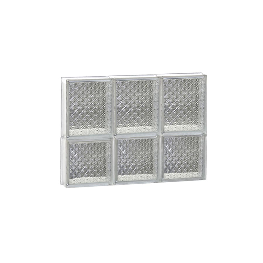 REDI2SET Diamond Glass Pattern Frameless Replacement Glass Block Window (Rough Opening: 18-in x 14-in; Actual: 17.25-in x 13.5-in)
