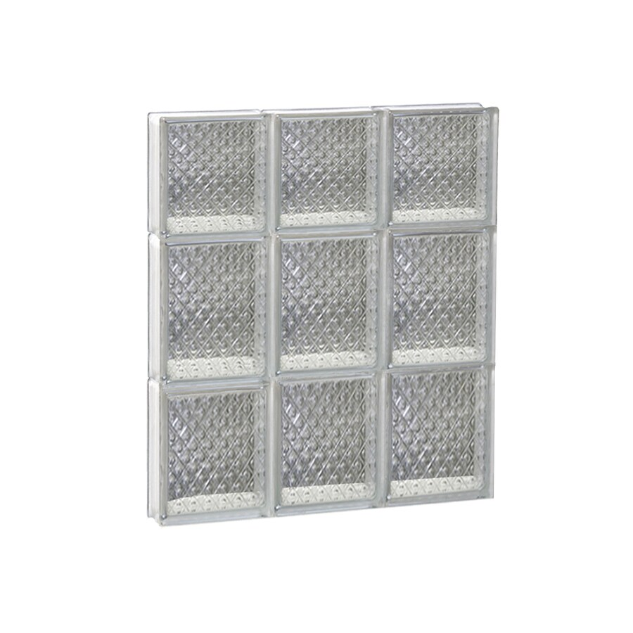 REDI2SET Diamond Glass Pattern Frameless Replacement Glass Block Window (Rough Opening: 18-in x 22-in; Actual: 17.25-in x 21.25-in)