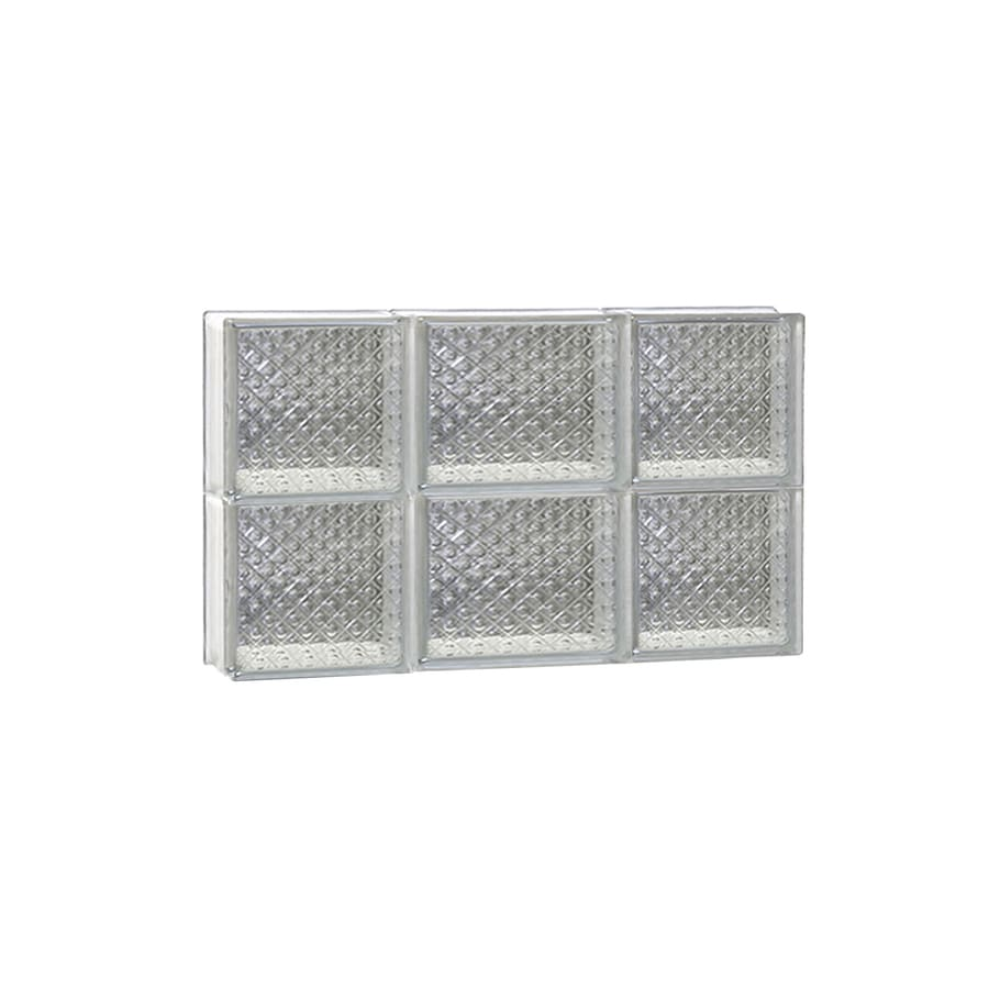 REDI2SET Diamond Glass Pattern Frameless Replacement Glass Block Window (Rough Opening: 20-in x 12-in; Actual: 19.25-in x 11.5-in)