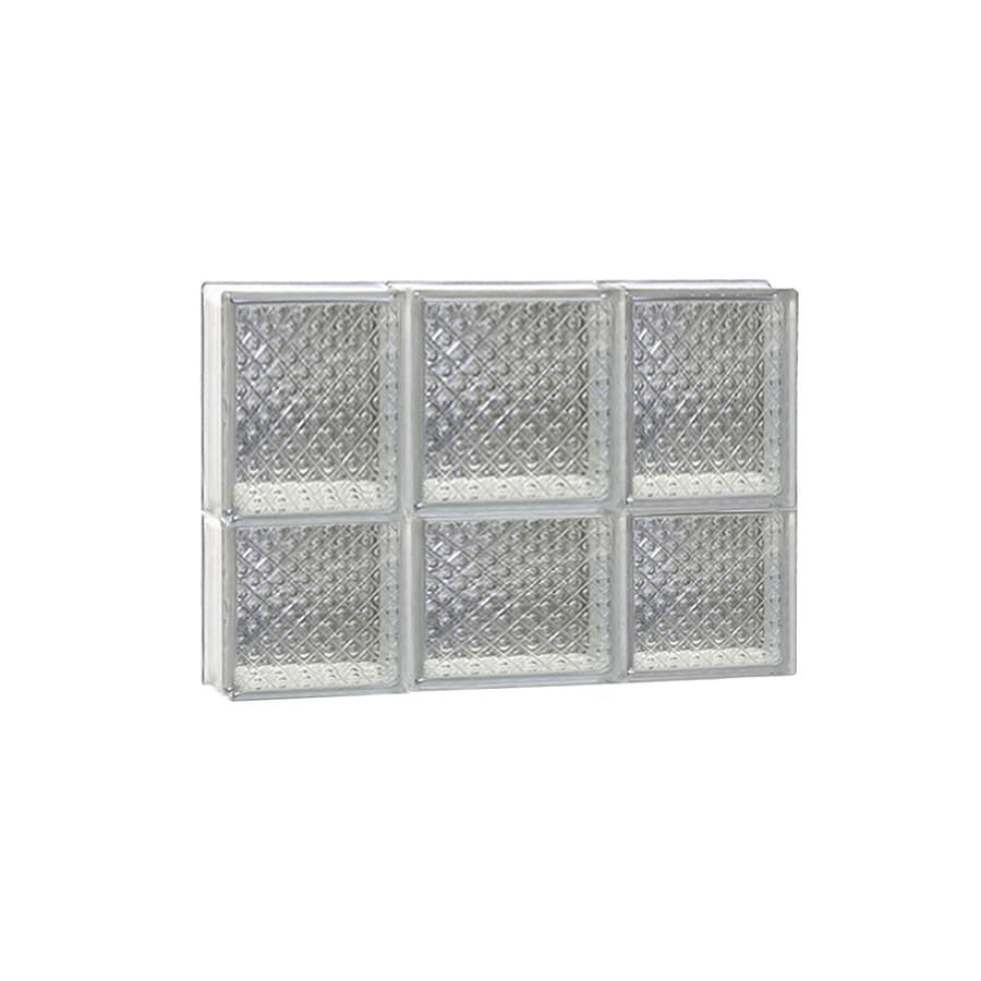 REDI2SET Diamond Frameless Replacement Glass Block Window (Rough Opening: 20-in x 14-in; Actual: 19.25-in x 13.5-in)