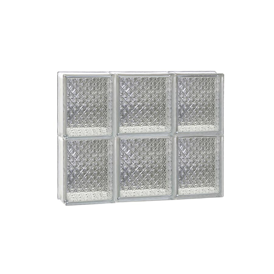 REDI2SET Diamond Glass Pattern Frameless Replacement Glass Block Window (Rough Opening: 20-in x 16-in; Actual: 19.25-in x 15.5-in)