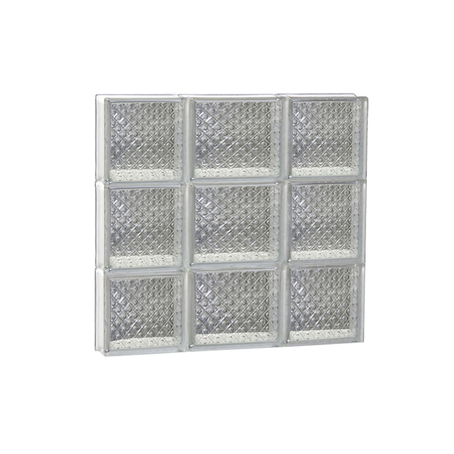 REDI2SET Diamond Glass Pattern Frameless Replacement Glass Block Window (Rough Opening: 20-in x 18-in; Actual: 19.25-in x 17.25-in)