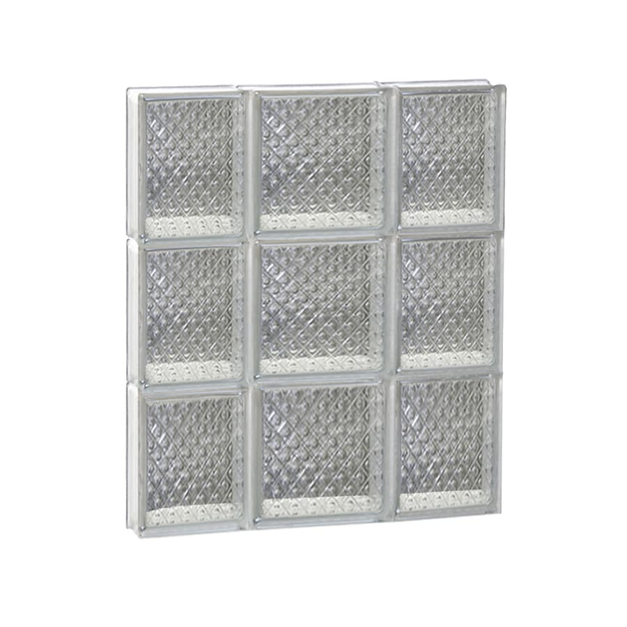 REDI2SET Diamond Glass Pattern Frameless Replacement Glass Block Window (Rough Opening: 20-in x 24-in; Actual: 19.25-in x 23.25-in)