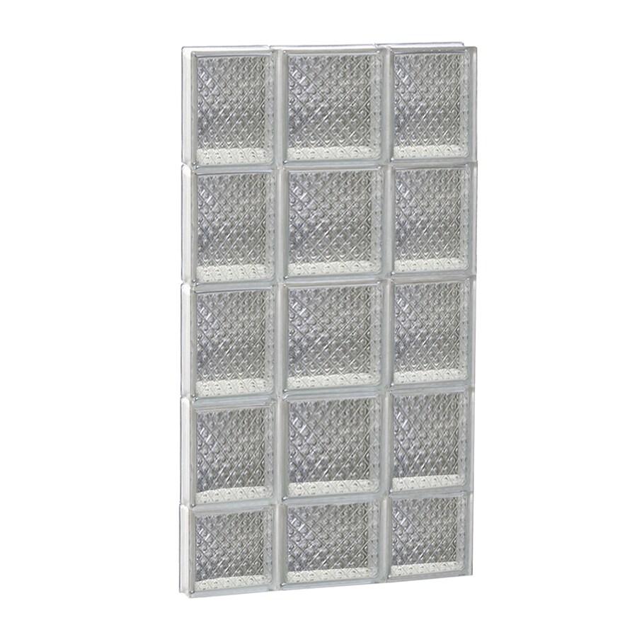 REDI2SET Diamond Glass Pattern Frameless Replacement Glass Block Window (Rough Opening: 20-in x 38-in; Actual: 19.2500-in x 36.7500-in)