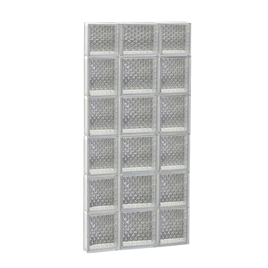 REDI2SET Diamond Glass Pattern Frameless Replacement Glass Block Window (Rough Opening: 20-in x 46-in; Actual: 19.25-in x 44.5-in)