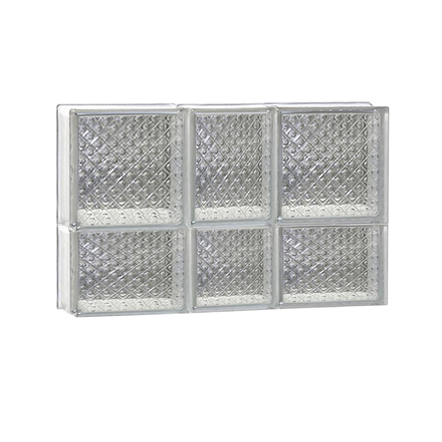 REDI2SET Diamond Glass Pattern Frameless Replacement Glass Block Window (Rough Opening: 22-in x 14-in; Actual: 21.25-in x 13.5-in)