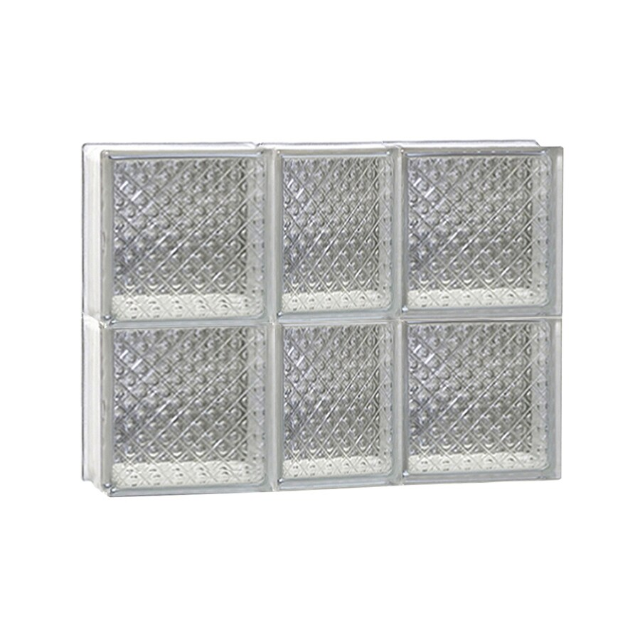 REDI2SET Diamond Glass Pattern Frameless Replacement Glass Block Window (Rough Opening: 22-in x 16-in; Actual: 21.25-in x 15.5-in)